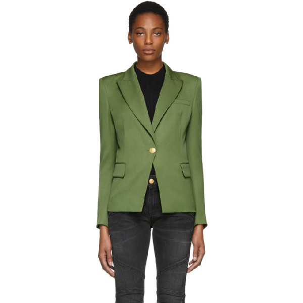 ac7e00e2 Pierre Balmain Single Breasted Blazer In 680 Khaki | ModeSens