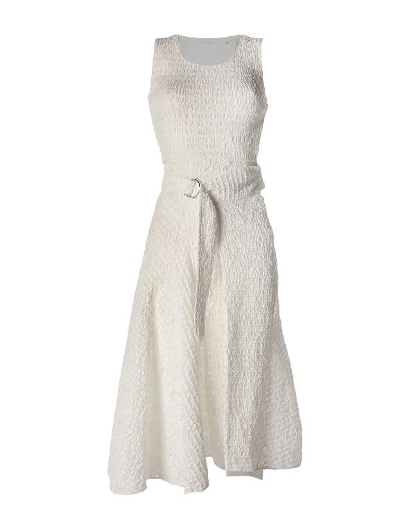 Midi Dress In White