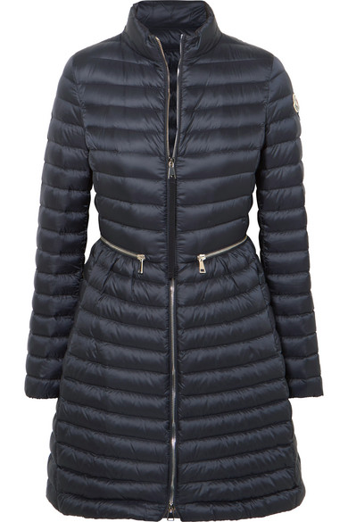 d65073350 Agatelon Zip-Front Quilted Puffer Coat in Blue