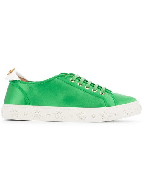 aLow L Satin In Green Trainers Top 7bgy6Yf