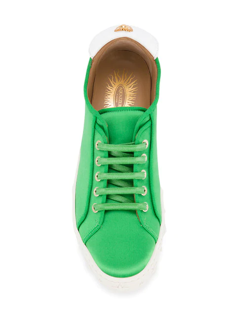 Top aLow In L Trainers Satin Green fgyvIY7b6