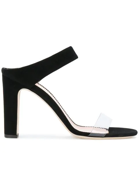 91c421d70eb4e Giuseppe Zanotti - Plexi And Suede Mule With Chunky Heel AlizÉE In Black