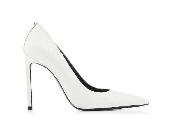 bfd80ad0a0 Tom Ford Classic Leather Pump In Chalk | ModeSens
