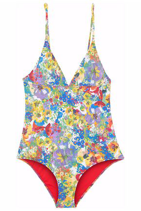 Stella Mccartney Iconic Printed One-Piece Swimsuit In Floral Print