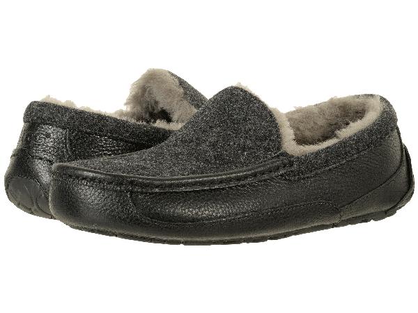 9676db0d3c2e Ugg Men s Ascot Leather   Wool Slipper In Black