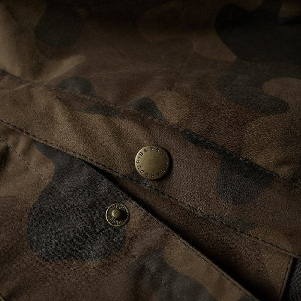 barbour heritage waxed camo sl bedale jacket