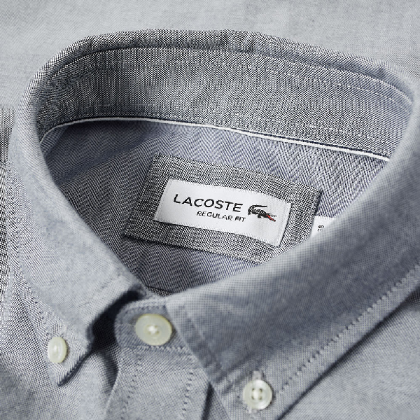 45a83d6a Lacoste Button Down Oxford Shirt in Blue