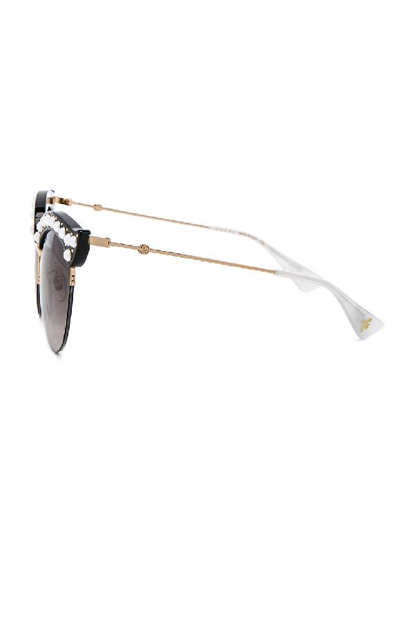 6f865f70a7d Gucci Opulent Luxury Pop Glitter Sunglasses In Metallics