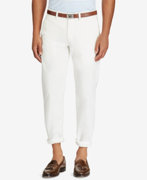 523c51f3 Polo Ralph Lauren Men's Straight-Fit Bedford Stretch Chino Pants In White