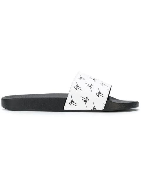 9b7c88ace Giuseppe Zanotti - Fabric Sandal With Black Logo