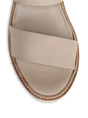 b5262698d8 Vince Women's Janet Leather Platform Wedge Sandals In Black | ModeSens