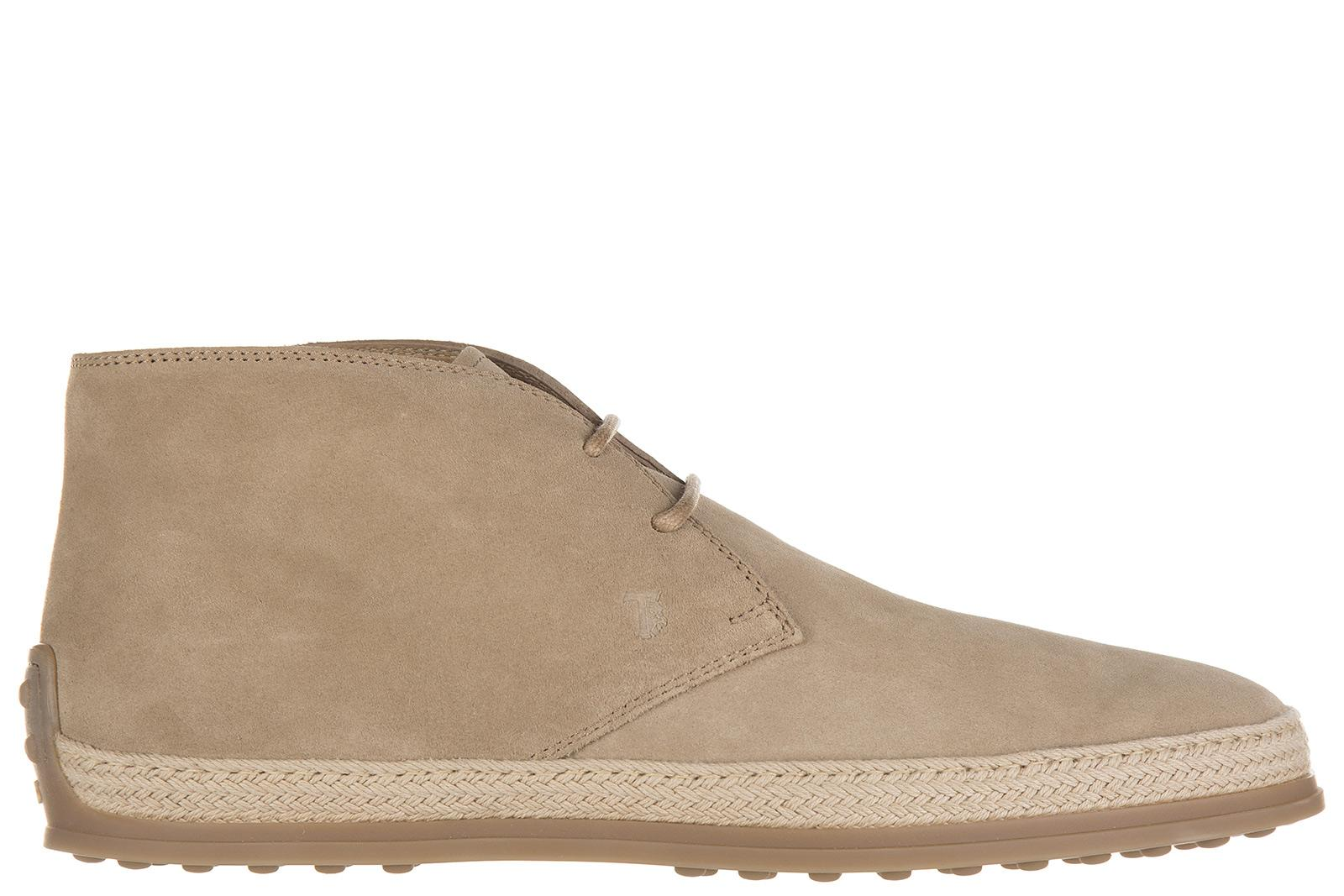 c9881dae8 Tod s Men s Suede Desert Boots Lace Up Ankle Boots Rafia In Beige ...