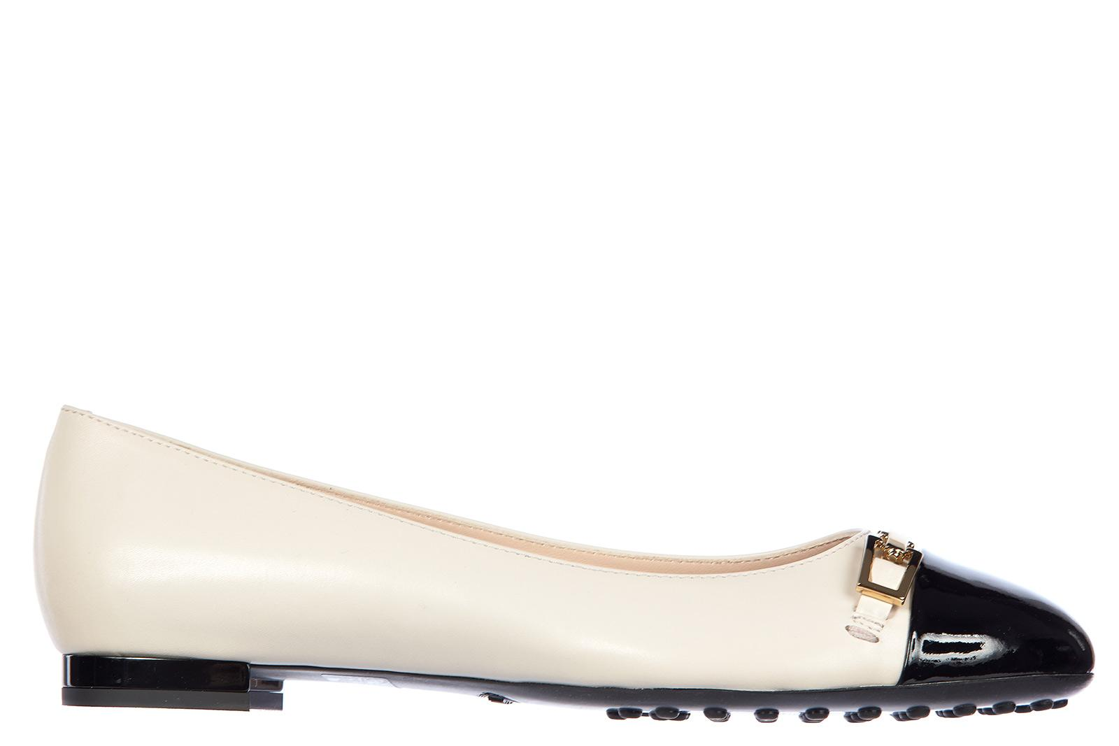 a11f3f8c02 Tod's Women's Leather Ballet Flats Ballerinas Clamp In Black | ModeSens