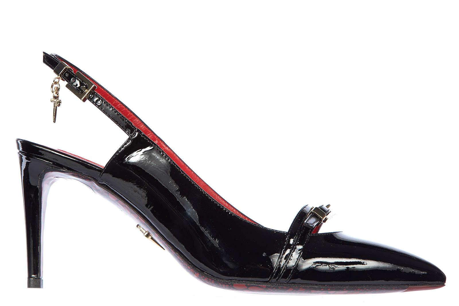 a05e42fbde06 Cesare Paciotti Women s Leather Pumps Court Shoes High Heel Vernice Luce In  Black