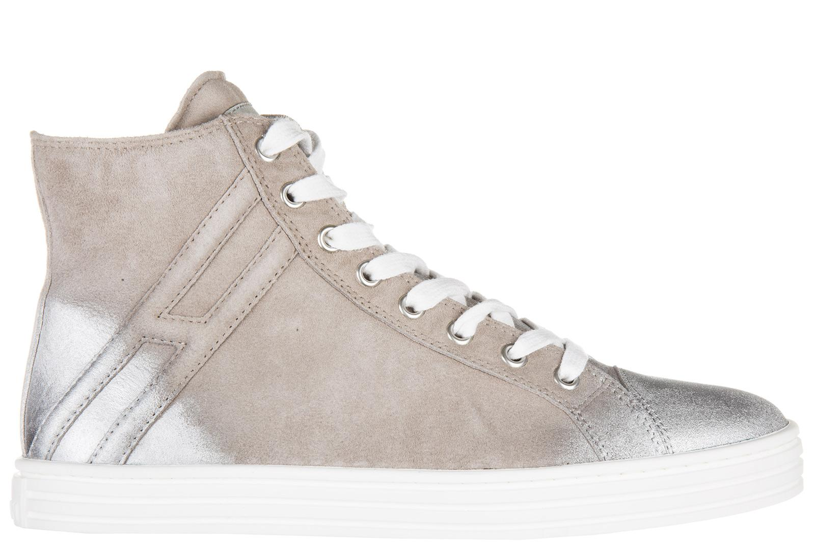 Hogan Rebel Women's Shoes High Top Suede Trainers Sneakers R141 ...