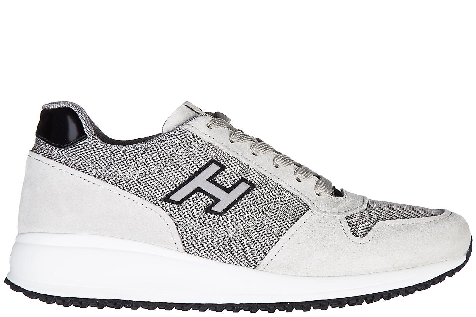 Hogan Men's Shoes Suede Trainers Sneakers Interactive N20 H Flock ...