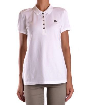 Burberry Women's White Cotton Polo Shirt