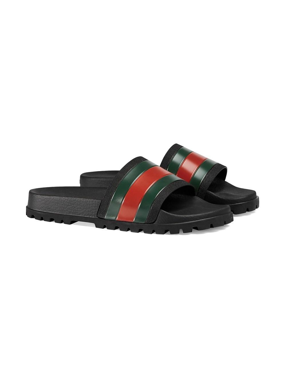 e193d17f40df38 Gucci Pursuit  72 Rubber Slide Sandals