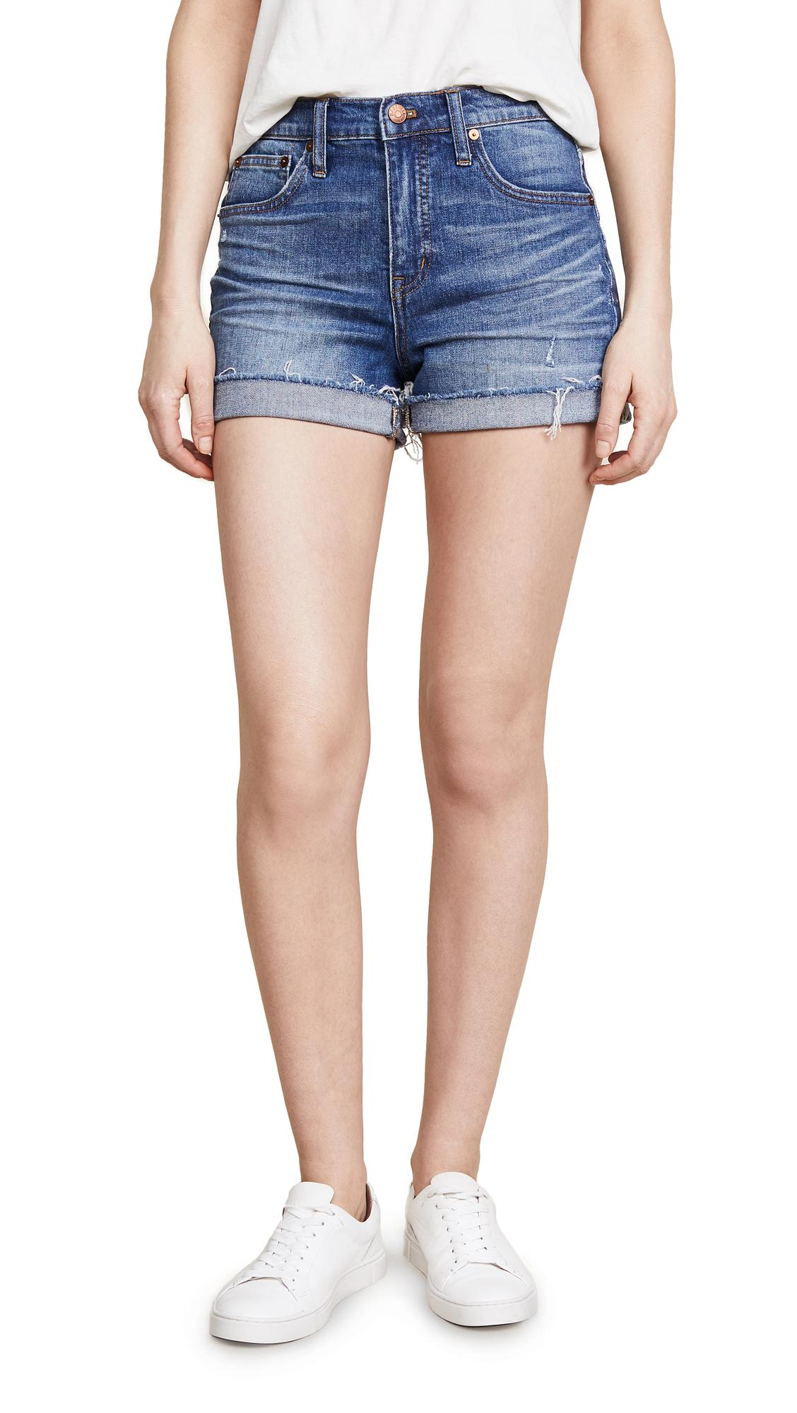7c86b654346 Madewell High Rise Boy Shorts In Glen Oaks