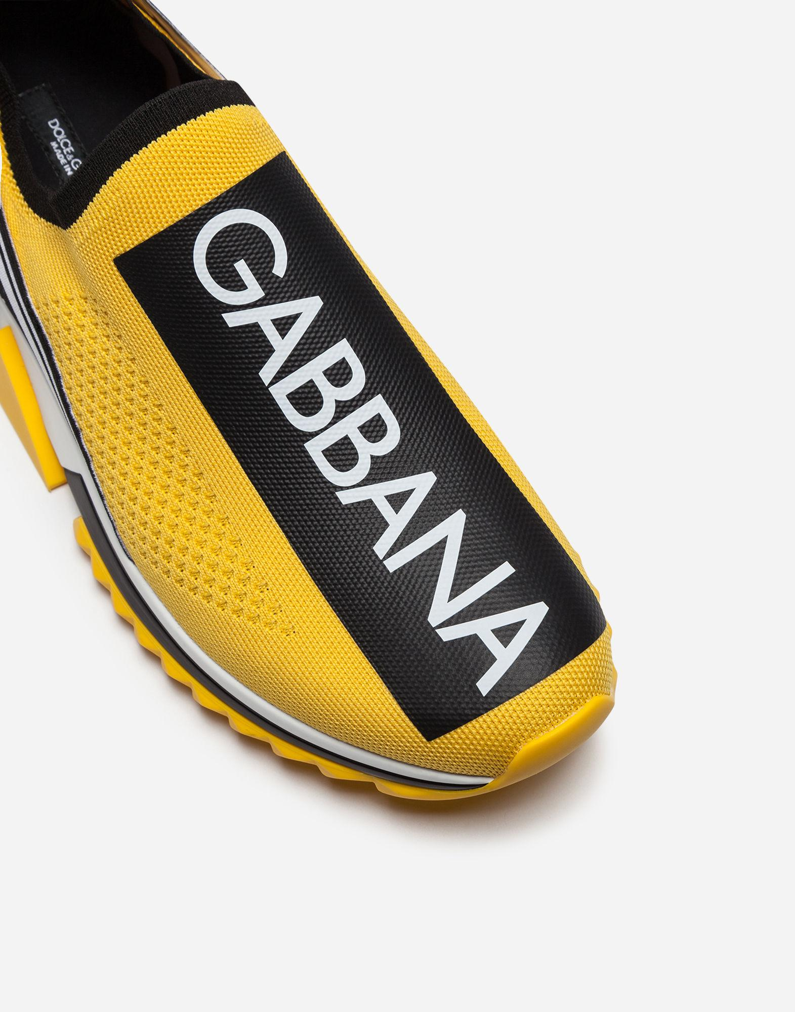 21b55fcad00 Dolce   Gabbana Men s Sorrento Logo-Stripe Sock Sneakers In Yellow ...