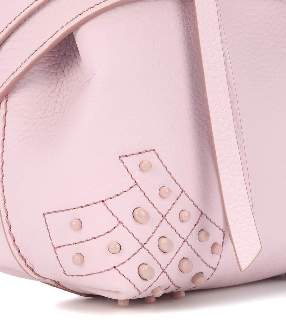 26e949ee6875 Tod s Wave Mini Leather Backpack In Pink