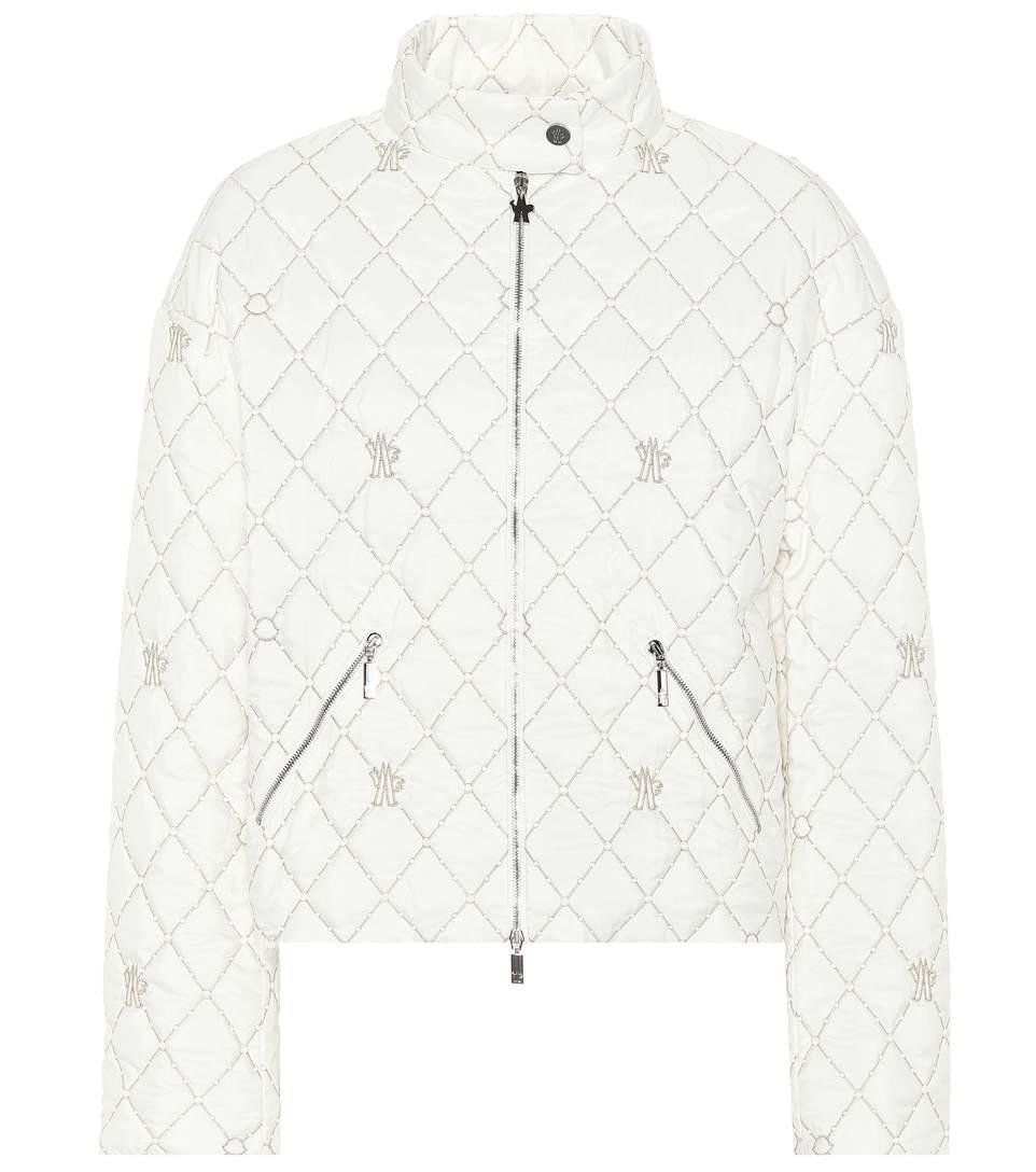 fda54c2dff0d Moncler Gamme Rouge Cabriole Quilted Jacket In White | ModeSens