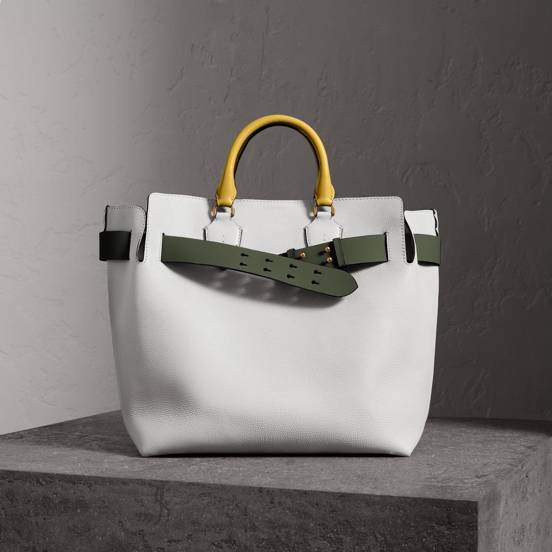 3c1a4ab3c8b4 Burberry The Large Leather Belt Bag In Chalk White