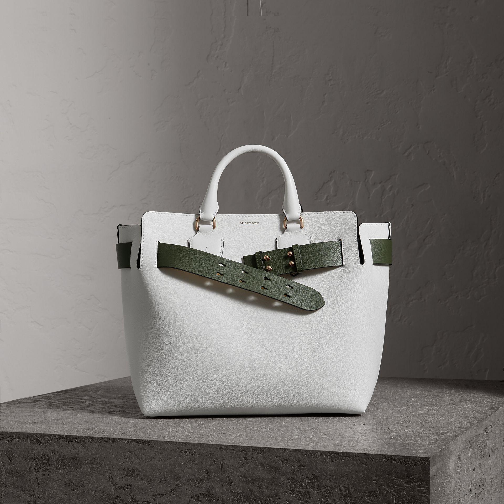 3eedae7862bc Burberry The Medium Leather Belt Bag In Chalk White