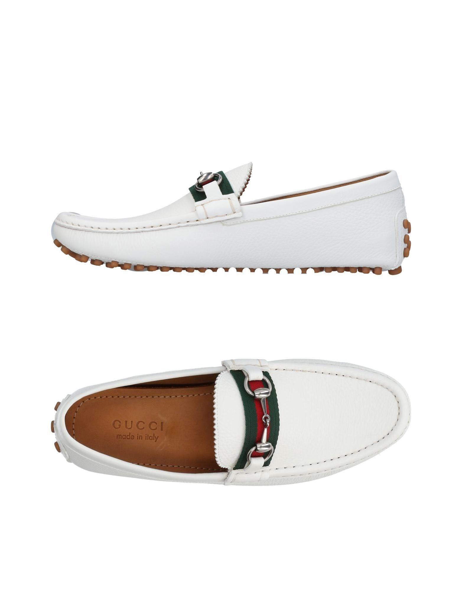 673bbb6bb03 Gucci Loafers In White