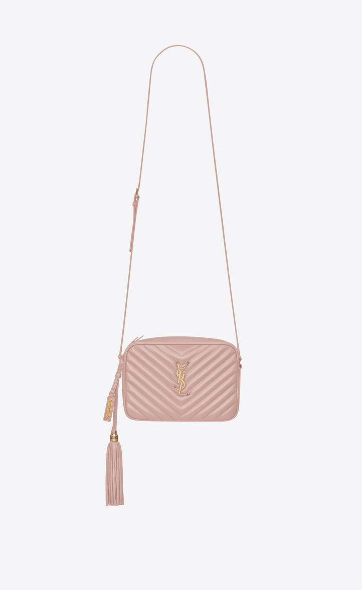 3fda6021b7 Lou Camera Bag In Matelassé Leather in Light Washed Pink