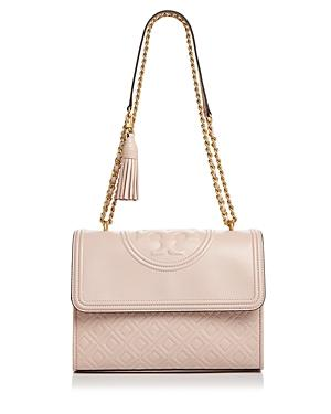 a8972a7abdb6 Tory Burch Fleming Quilted Leather Small Convertible Shoulder Bag In Pink