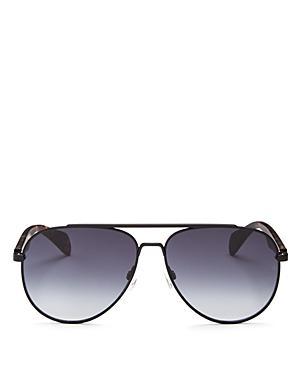 1987e6e39648 Rag & Bone 62Mm Oversize Aviator Sunglasses - Black In Matte Black ...