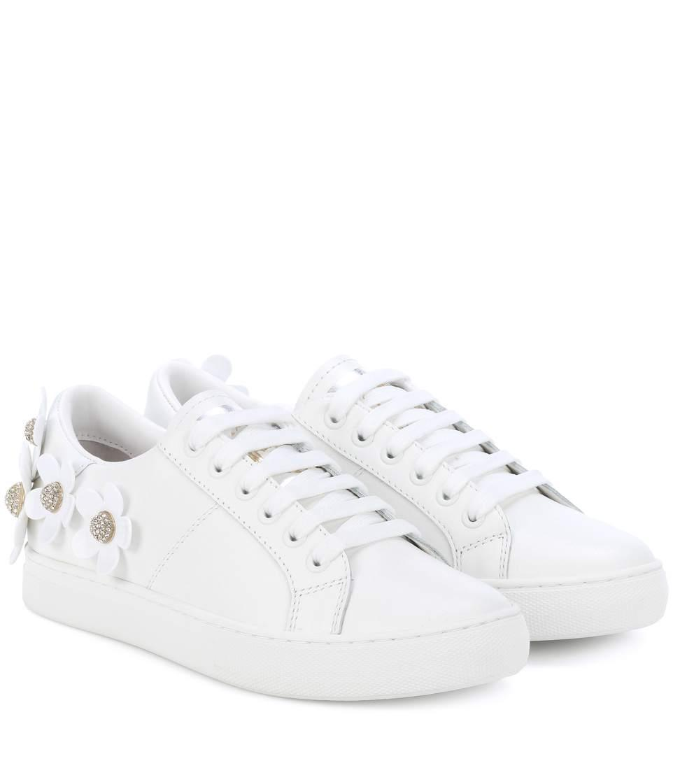 92743e396d4 Marc Jacobs Women s Daisy Embellished Leather Lace Up Sneakers In ...