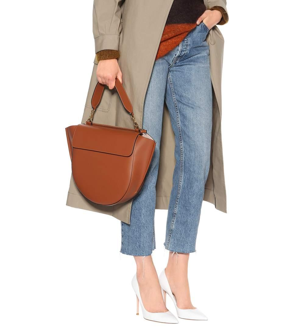 2ed38e382 Wandler Hortensia Medium Leather Shoulder Bag - Brown In Tan | ModeSens