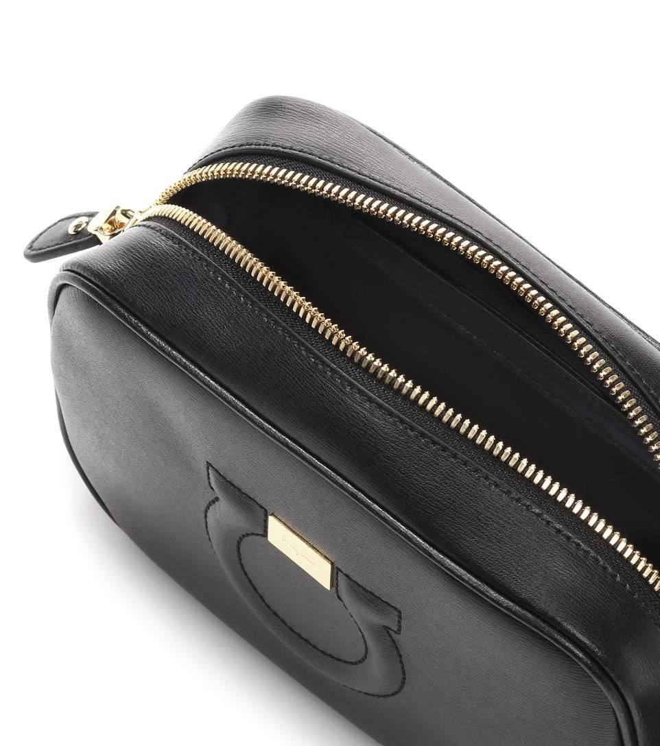 Ferragamo Black In Shoulder Bag Leather Camera Goncho City Salvatore dB0Zw1q8d