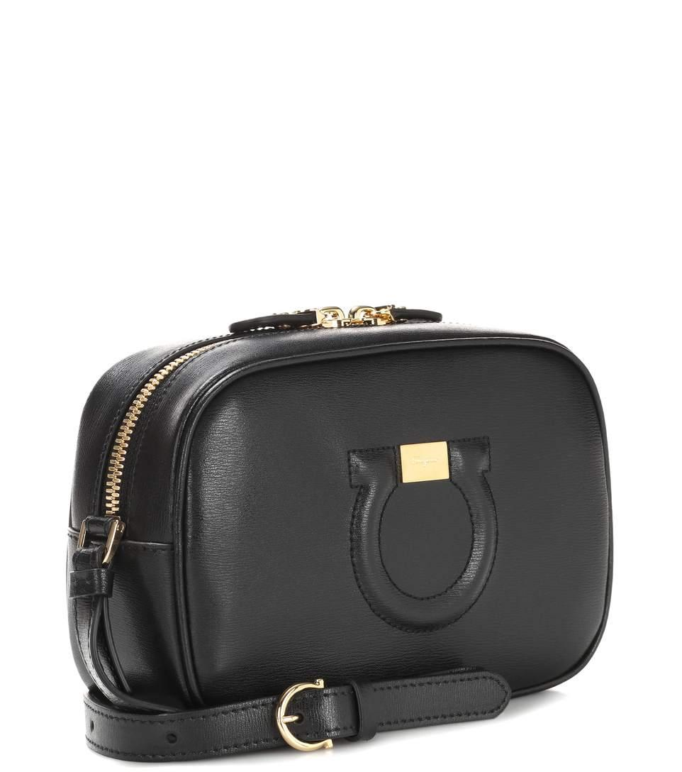 City Black Shoulder In Bag Camera Goncho Ferragamo Leather Salvatore Un5qzPpvP