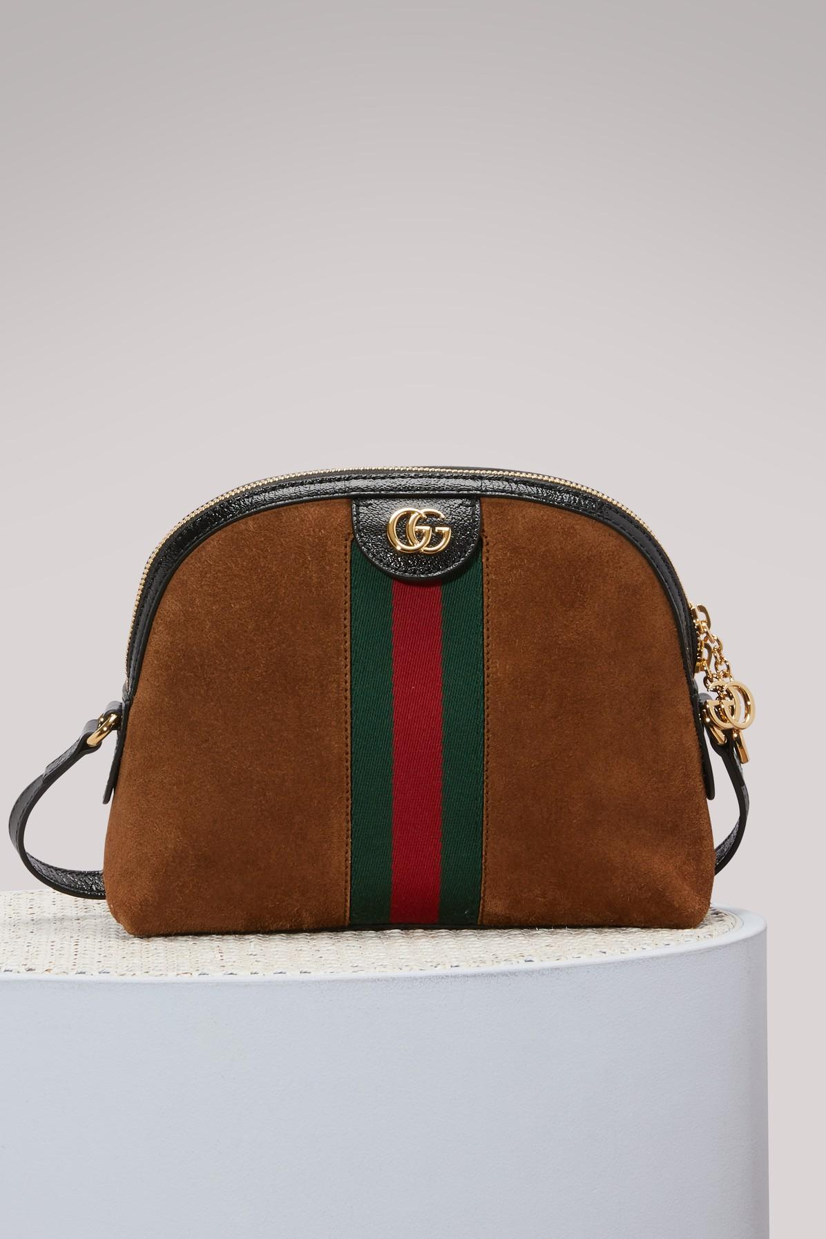 ca8dfe14267 Gucci Ophidia Small Shoulder Bag In Brown