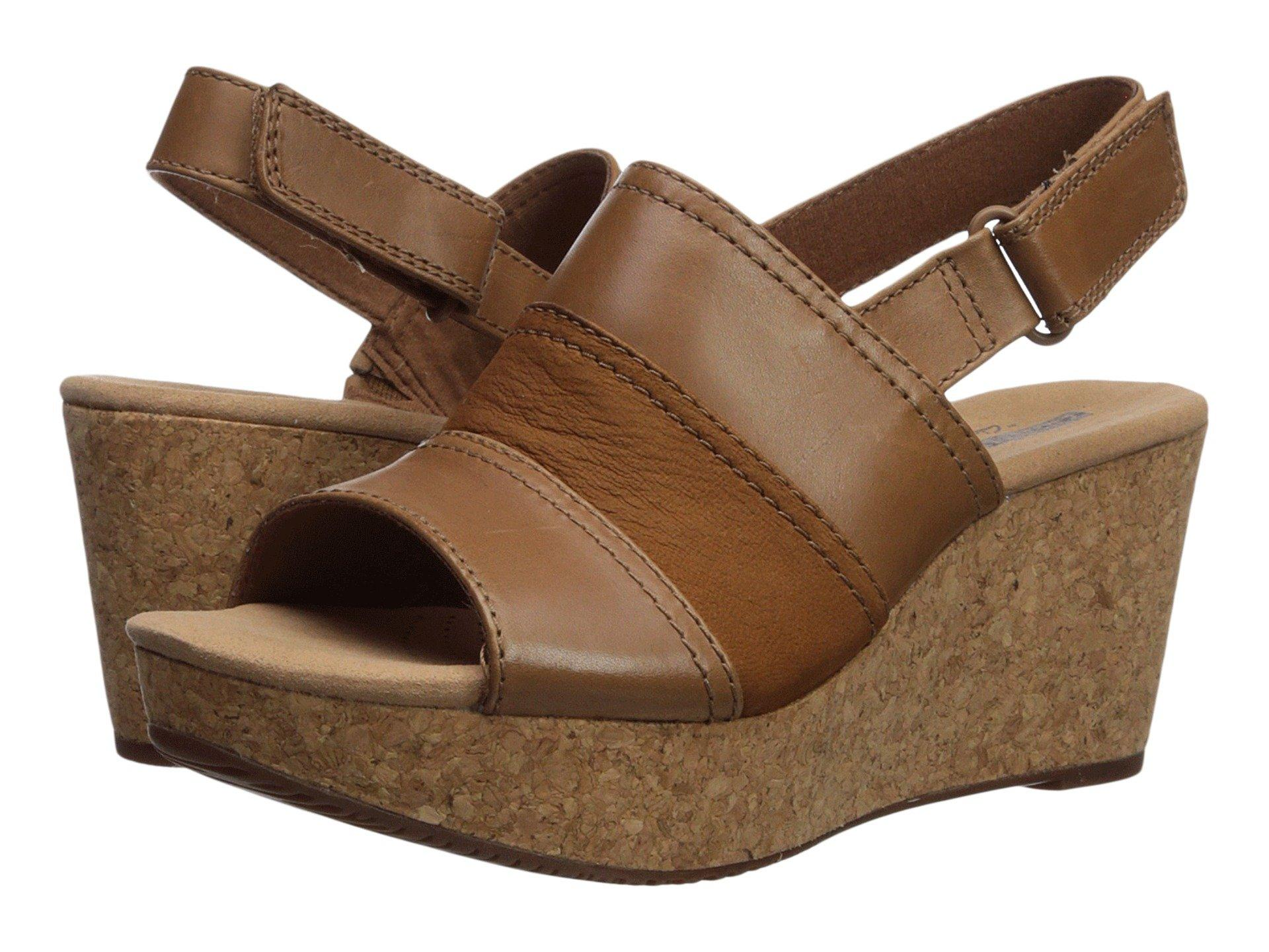 2defb8398fe Add some height to your warm-weather look in these charming Clarks® Annadel  Janis wedge sandals. Supple leather upper. Open-toe silhouette.