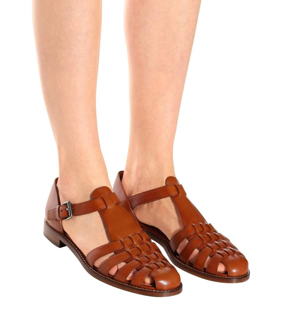 30ba2f37fd7 Church s Kelsey Leather Sandals In Brown