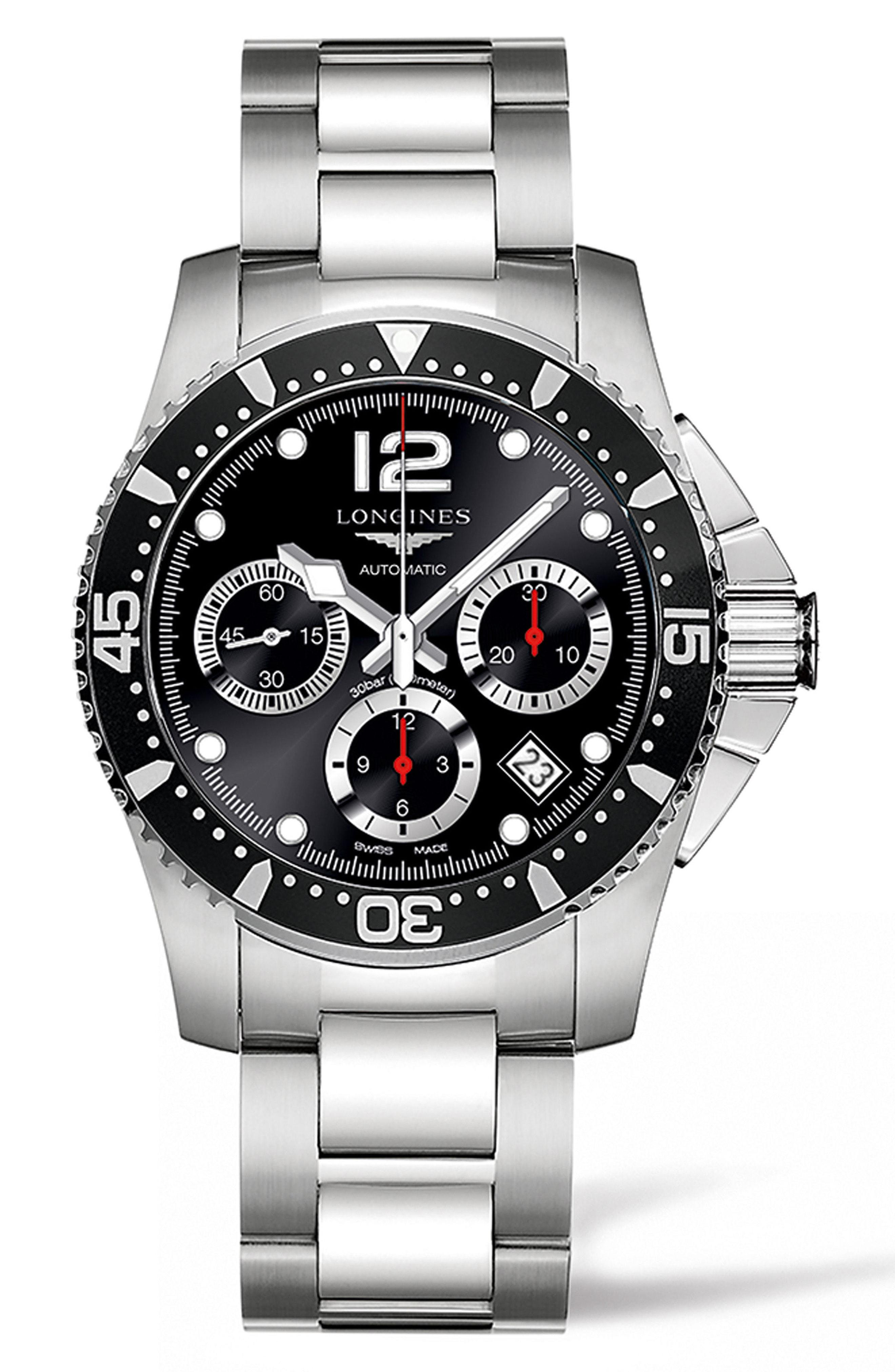 Longines Hydroconquest Automatic >> Hydroconquest Automatic Bracelet Watch 41mm In Silver Black Silver