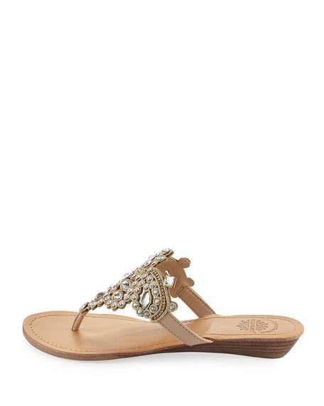 5c85ec64f PREMIUM COLLECTION BY YELLOW BOX. Amee Embellished Thong Sandals ...