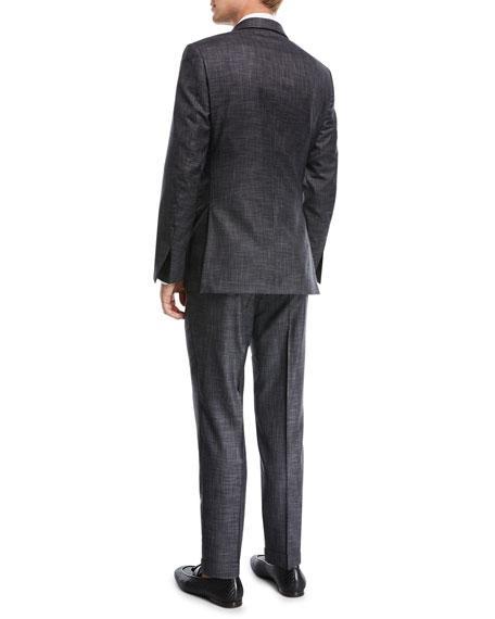 b96f270ff2ef6 Ermenegildo Zegna Striated Wool Two-Piece Suit In Gray | ModeSens