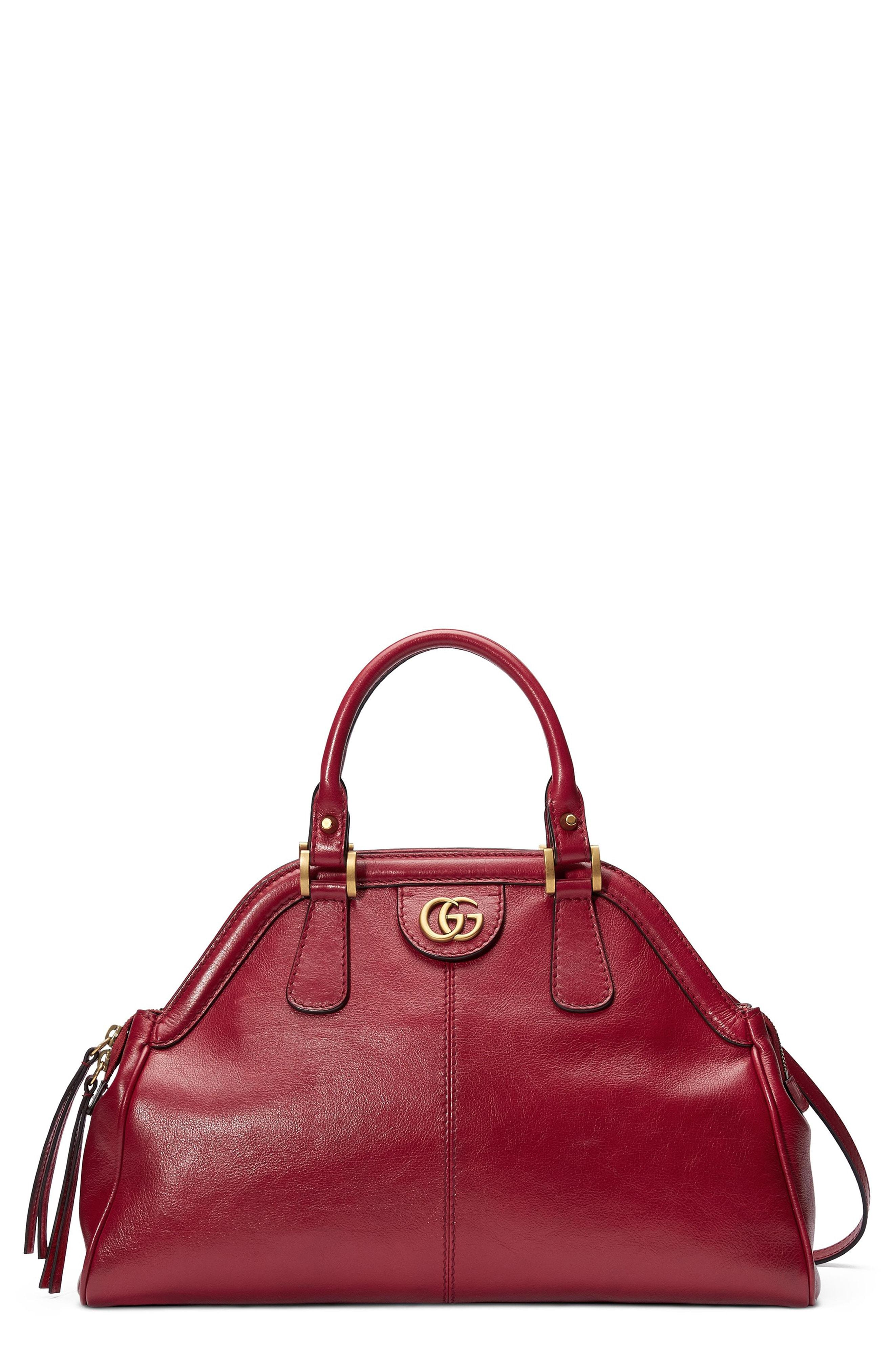 5f9768578a4ad Gucci Re(Belle) Medium Leather Cross-Body Bag In 6438 Cerise