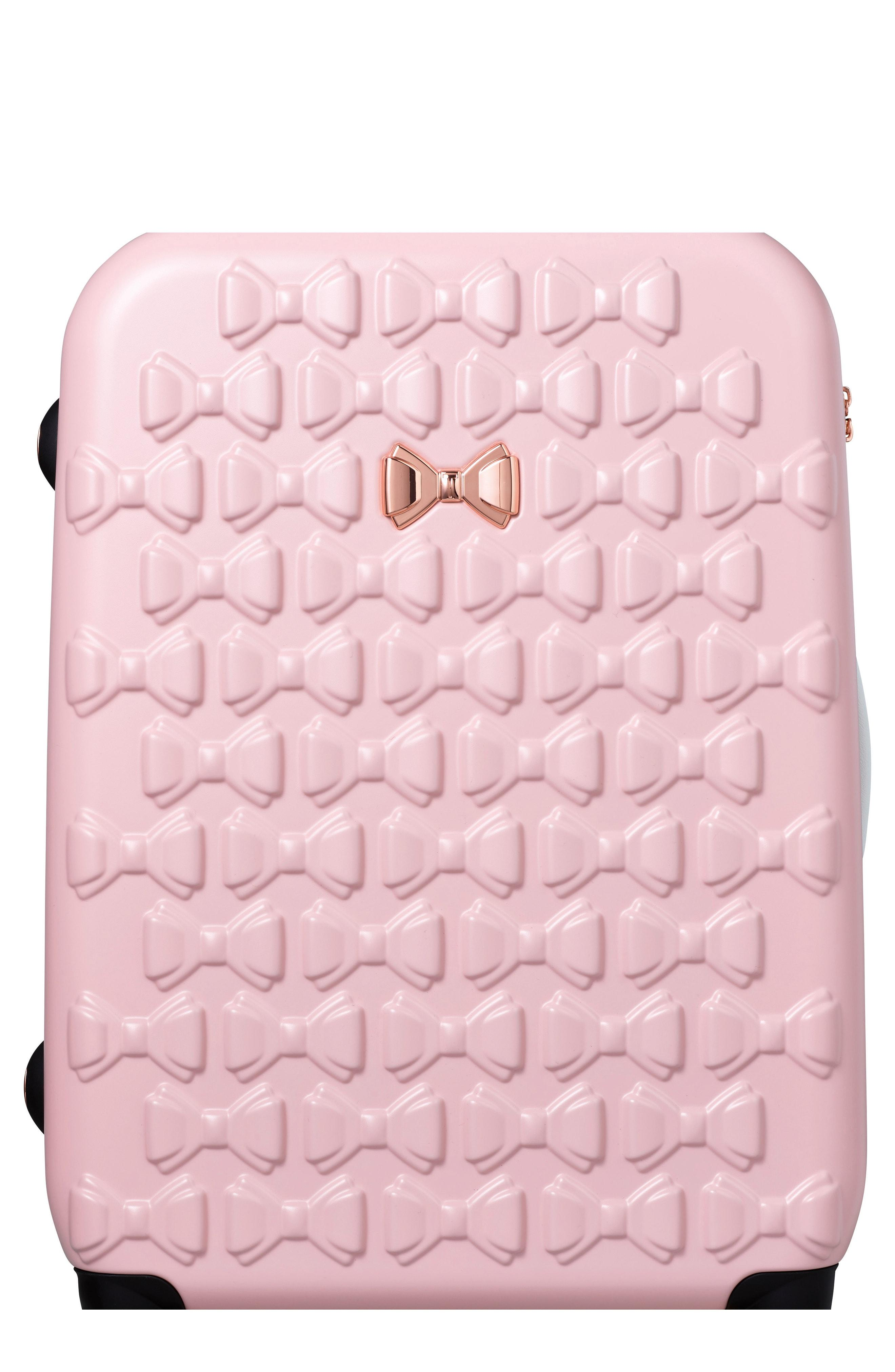 5d414452c Ted Baker Large Beau Bow Embossed Four-Wheel 31-Inch Trolley Suitcase - Pink