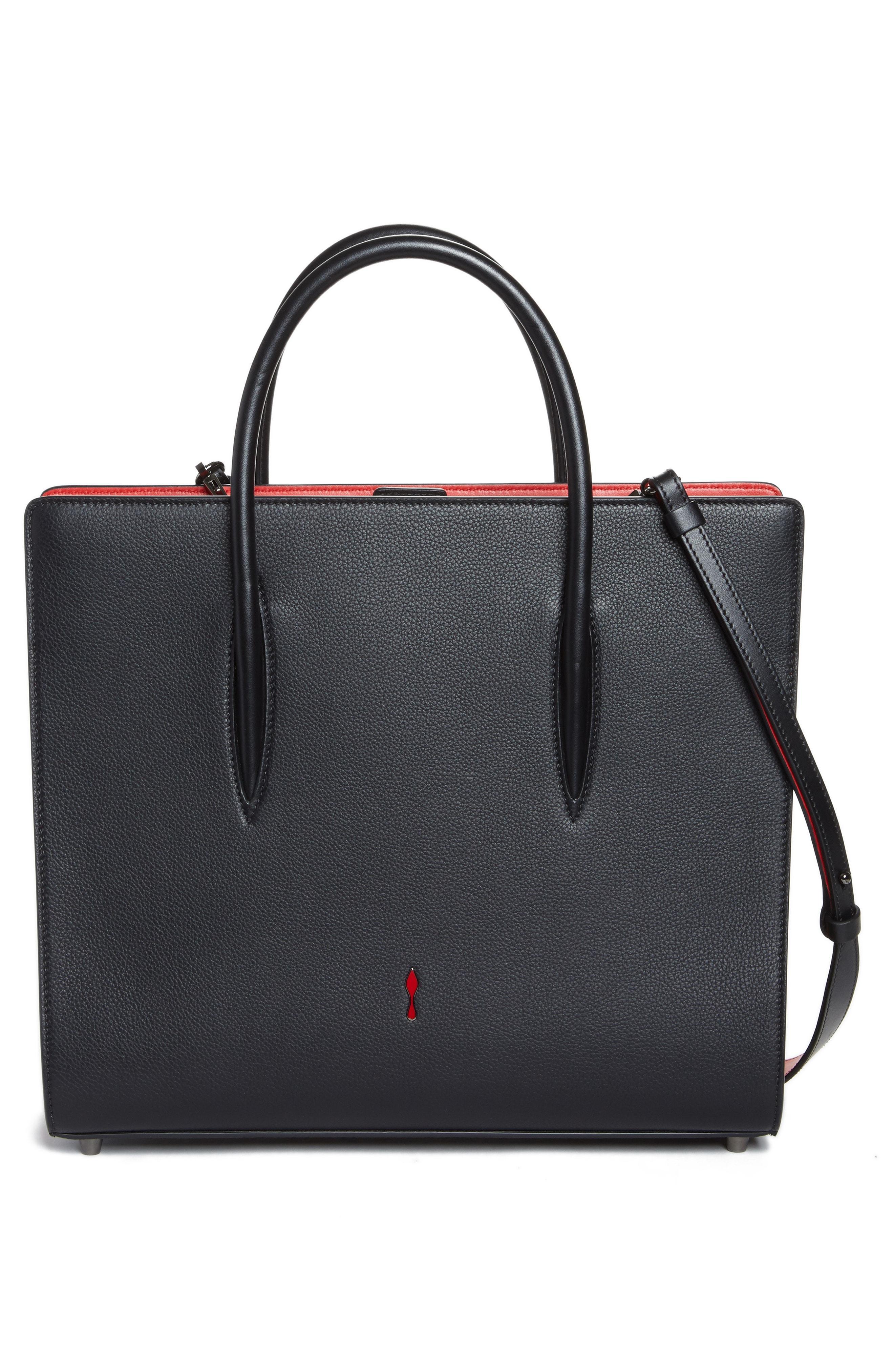 3b5a4feb6a3 Paloma Nano Spike Leather Tote Bag, Black