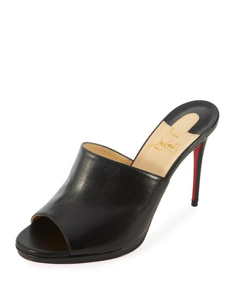 7fb1254a362 Christian Louboutin Pigamule 100Mm Napa Red Sole Slide Sandal In Black