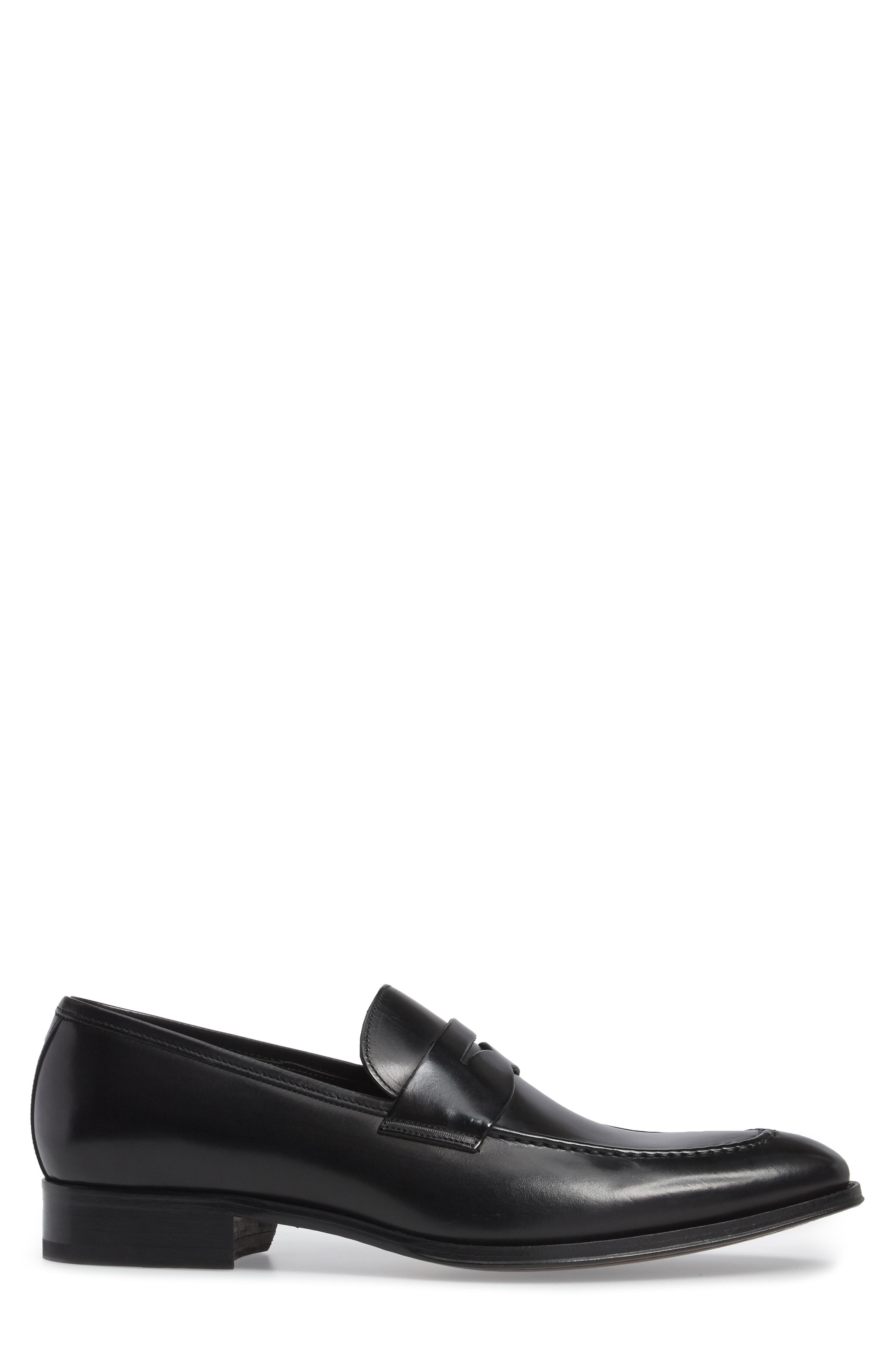 fe37ca2d57c TO BOOT NEW YORK. Men s Deane Leather Apron Toe Penny Loafers in Black