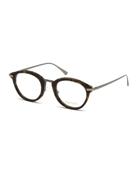 5402ec74a470 Tom Ford Oval Acetate   Metal Optical Frames