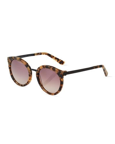 a440edb286343 O By Oscar De La Renta Duo-Tone Round Combo Sunglasses In Brown ...