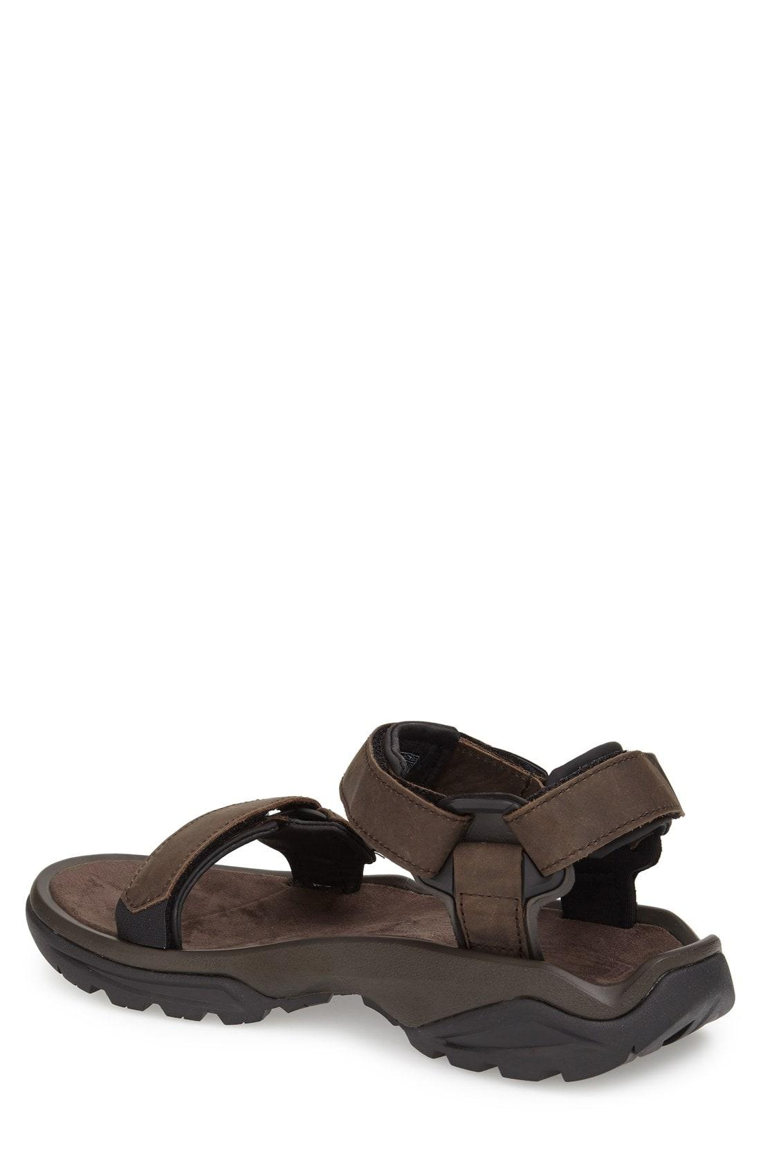 24f06bf64 Teva Men S Terra Fi 4 Water-Resistant Leather Sandals Men S Shoes In  Turkish Coffee